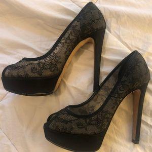 Christian Dior peep toe pumps